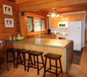Log House - 3010 Christian Valley Rd, Westbridge - Kitchen
